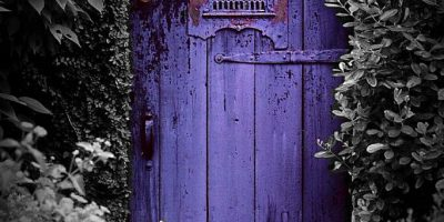 The house with the purple door