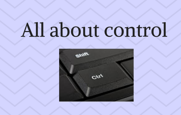 All about Control