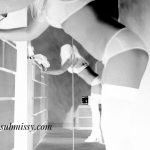 negatives - a negative of missy posing in underwear and stockings